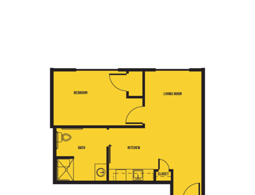 1 Bedroom C Lighthouse Floor Plan