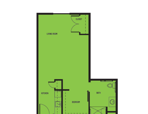 1 Bedroom D St. Louis Floor Plan