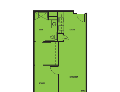 1 Bedroom D1 Superior Floor Plan