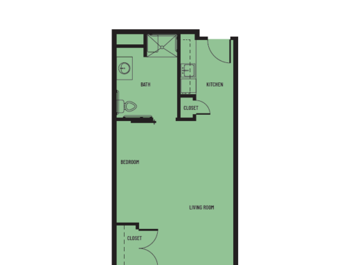 Studio A Inlet Floor Plan