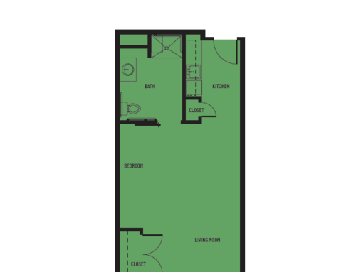 Studio A2 Canal Floor Plan